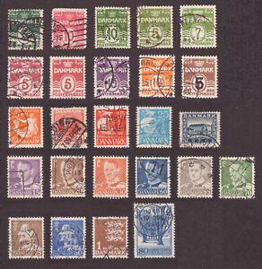 Dänemark 1907 - 1966 Lot   gestempelt