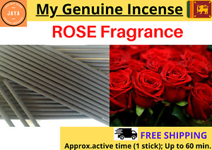 Heavily Scented Sri Lankan Natural Rose Flowers INCENSE STICKS Hand Dipped- NEW