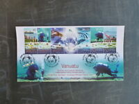 2014 VANUATU- FIJI JOINT ISSUE STRIP 7 STAMPS FDC FIRST DAY COVER