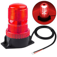 Red 30LED Rotating Strobe Light Rooftop Flash Beacon Emergency Warning 12V-24V