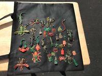 Vintage 1960s Mattel Creepy Crawlers Lot of (45) Big Bugs/Small Bugs Lizards