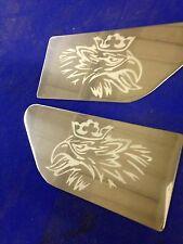 SCANIA Série R Aile latérale plaques INC Fixations gravé logo acier inoxydable