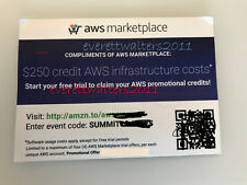 2x$250 AWS Credits Amazon Web Services Credit exp 12/31/2018 - NON EDU !!!