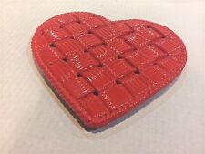 PRIMO'GI  RED CERAMIC WOVEN HEART MADE IN ITALY NWT