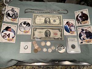 Junk drawer lot D: 1 oz .999 Silver, 90% coins, ancient, treasure, 99c start, NR