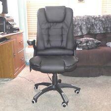 Executive Ergonomic Heated Vibrating Computer Desk Office Massage Chair - Black