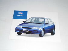 GM HOLDEN BARINA  NEW ZEALAND SALES BROCHURE SEPTEMBER 1991 FOR 1992 MODEL YEAR
