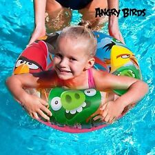 NEW ANGRY BIRDS DESIGN INFLATABLE SWIMMING RING KIDS BOYS GIRLS SWIM FLOAT