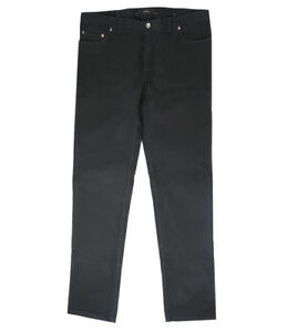 Brioni Men's Black Cotton Jeans Livigno Slim Fit, Size 33, 40, 41 Free Shipping