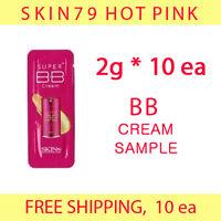 SKIN79 Hot Pink BB Cream Sample 20g (2g*10ea) -FREE shipping, fair/light null