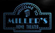 ph1007-b Miller's Home Theater Popcorn Bar Beer Neon Light Sign