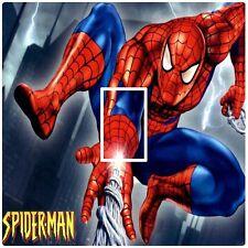 SPIDERMAN WEB SHOOT - LIGHT SWITCH STICKER / COVER / VINYL / SKIN - KIDS BEDROOM