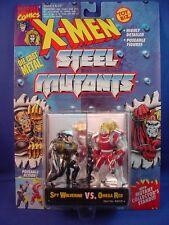 """MARVEL X-MEN STEEL MUTANTS DIE-CAST METAL 2.75"""" SPY WOLVERINE VS. OMEGA RED!!"""