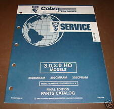 OMC Cobra Stern Drives 3.0 / 3.0 HO Parts Catalog ´92