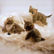 Gartenfigur Katze Katzen Kitten Tierfiguren Lebensecht Gartendeko