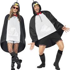 Pingüino PONCHO MUJER HOMBRE Festival Impermeable diseño en forma de animal