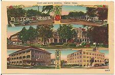Scott and White Hospital in Temple TX Multiview Postcard 1943