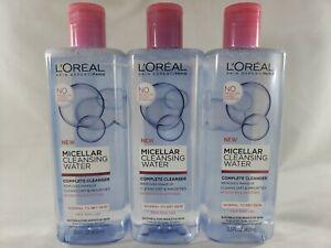 (Lot of 3) L'Oréal Paris Micellar Cleansing Water Complete Cleanser 13.5 fl. oz.
