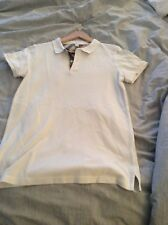 Burberry White Girls Polo Shirt Size 14 kids