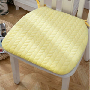 Solid thickened Square Chair Mats, Removable and With ties Seat Cushion 43*40CM