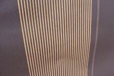 Brown with thin Gold Stripes Non Woven Vinyl Wallpaper Feature Panel