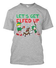 Let's Get Elfed Up- Christmas Santa Xmas Drink Reindeer Mens T-Shirt