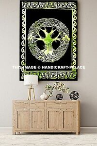 Indian Mandala Tree Of Life Wall Hanging Tapestry Throw Celtic Decor Ethnic Art