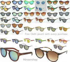 Round Lens Keyhole Frame Vintage Retro Style Sunglasses Ladies Mens Hipster Depp