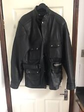 Belstaff Style Leather Motorcycle Jacket