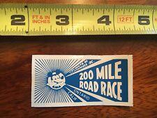 VINTAGE AMA 200 Mile Road Racing Decal, Ontario, CA Blue