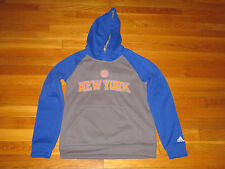 ADIDAS NEW YORK KNICKS BASKETBALL LONG SLEEVE HOODIE BOYS MEDIUM 10-12 EXC.