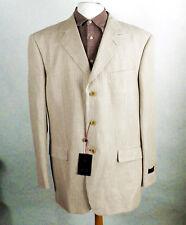 New Sandy Pin Stripe Linen Jacket by Pierre Cardin  Size XL  Designer RRP £700