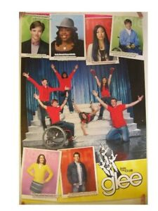 Glee Poster Cast Shot Commercial on stage