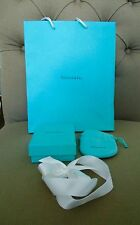 TIFFANY & CO. Empty Small Gift Box with Pouch, Ribbon & Bag
