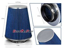 """4 Inches 102 mm Cold Air Intake Cone Truck Long Filter 4"""" NEW BLUE Chevy"""
