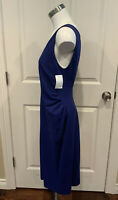 Armani Collezioni Blue Sleeveless Sheath Dress, Size 10 (US)