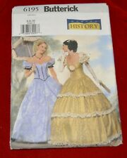 Butterick pattern # 6195 Historical civil war southern dress 6 - 10 UC FF oop