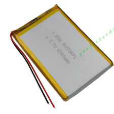 3.7V 6000 mAh Polymer Li battery For GPS iPod PSP iPAQ PDA DVD Tablet PC 906090