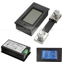 AC/DC 6.5~100V 20/50/100A LCD Combo Panel Display Volt Amp Power Watt Meter