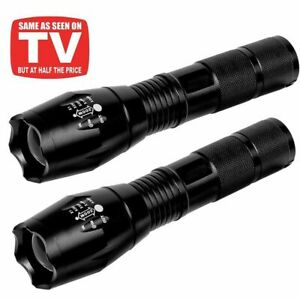 2Pack 90000LM Tactical 5 Modes T6 LED 18650 Flashlight Zoom Torch Aluminum Light