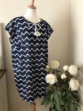 H&M L.O.G.G Cotton Zig-Zag Print Lightweight Cover-up Size 12 Nwt