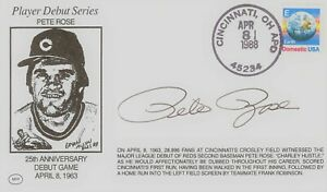 BLOWOUT Pete Rose limited signed 25th Anniversary player debut cachet cover FDC