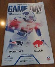 BUFFALO BILLS Gameday Program LORENZO ALEXANDER 10/30/16 New England Patriots