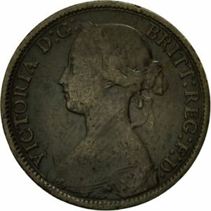 [#542899] Coin, Great Britain, Victoria, Farthing, 1867, EF(40-45), Bronze