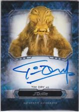 STAR WARS 2016 TOPPS MASTERWORK TIM DRY AS J'QUILLE AUTOGRAPH