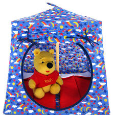 Blue, sparkling solar system Toy Pop Up Fabric House, 2 Sleeping Bags, handmade