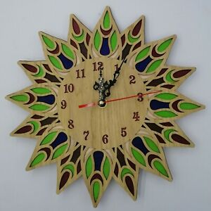 30cm Wooden wall clock-Laser Crafted Gift-Colorful