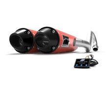HMF Can-Am Renegade 1000 2017 2018 Can-Am Red/Blk Dual Full Exhaust + EFI