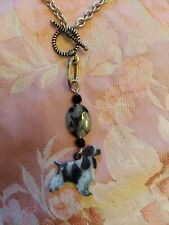 English Cocker Spaniel Dog Ladies Handmade Necklace jewelry only 1 Free shipping