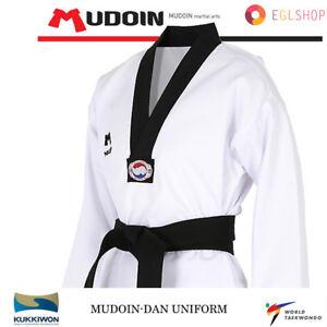 Mudoin Dan Dobok Taekwondo Uniform FREE BELT GIFT WTF TKD Martial Arts School